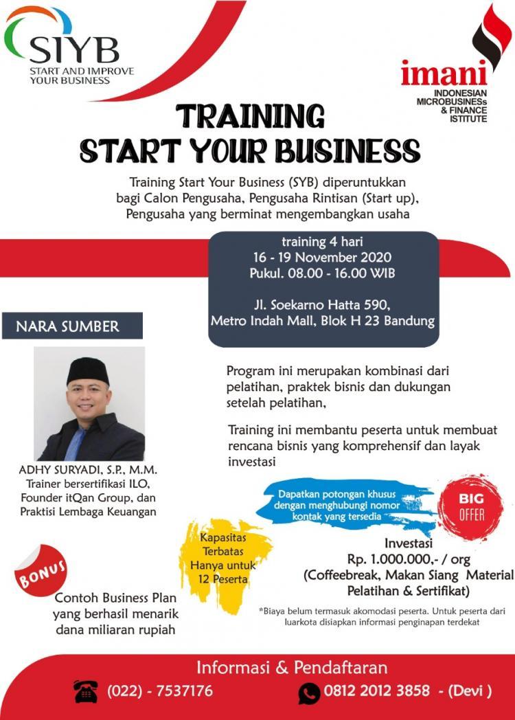 Pelatihan Start Your Business (SYB)