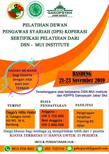 Pelatihan DPS bersertifikasi DSN-MUI 2019